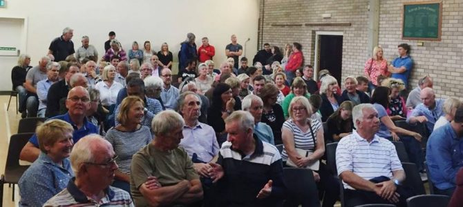 Village meeting – Over 100 Ardleigh residents attended the village meeting to debate the proposed development at Wick Lane
